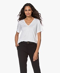 By Malene Birger Aneilia Lyocell T-Shirt - Pure White