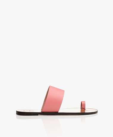 ATP Atelier Astrid Leather Toe Slipper Sandals - Confetti