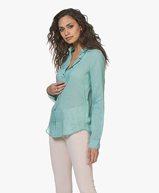 forte_forte Voile Zijdemix Blouse - Sirena