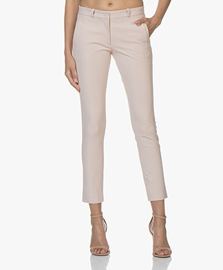 Joseph New Eliston Gabardine Stretch Pants - Oyster