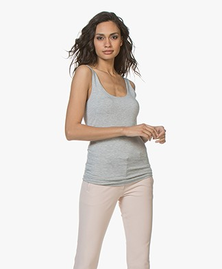Majestic Abby Soft Touch Jersey Tank Top - Grey Melange