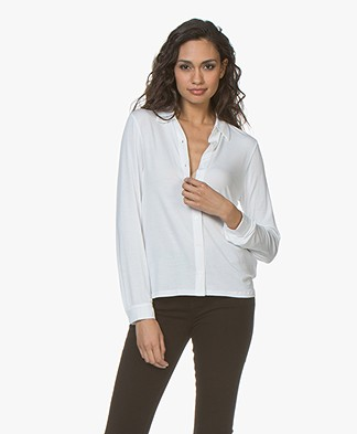 Majestic Filatures Viscose Jersey Blouse - Wit
