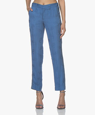 Zadig & Voltaire Pomelo Jacquard Paisley Pantalon - Bleu Marguerite