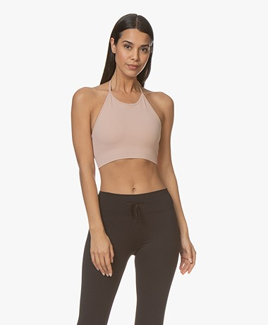 Filippa K Soft Sport Seamless Halter Top - Dusty Rose