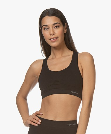 Organic Basics SilverTech™ Active Workout BH Top - Zwart