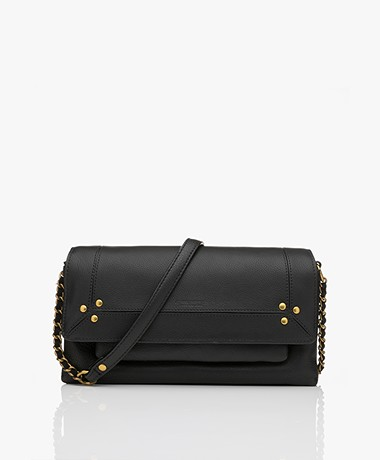 Jerome Dreyfuss Charly S Leather Crossy-body/Shoulder Bag - Black/Vintage Gold