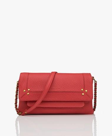 Jerome Dreyfuss Charly S Leather Crossy-body/Shoulder Bag - Red/Vintage Gold
