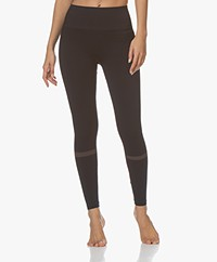 Filippa K Soft Sport Jaquard Stripe Leggings - Night Sky/Dusty Rose