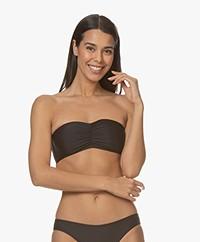 Filippa K Soft Sport Shiny Bandeau Bikinitop - Zwart