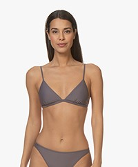 Filippa K Soft Sport Shiny Triangle Bikini Top - Mauve