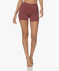 Organic Basics SilverTech™ Active Yoga Shorts - Burgundy
