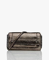 Jerome Dreyfuss Charly S Leren Cross-body/Schoudertas - Lamé Champagne