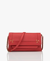 Jerome Dreyfuss Charly S Leren Cross-body/Schoudertas - Rood/Vintage Goud