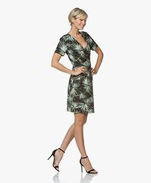 Josephine & Co Randie Tech Jersey Print Dress - Palmleaf