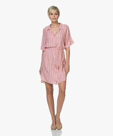 Josephine & Co Carsten Striped Shirt Dress - Red
