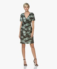 Josephine & Co Randie Tech Jersey Print Dress - Palmleaf
