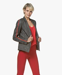 HUGO Afrones Tweed Blazer with Sleeve Tape - Open Miscellaneous