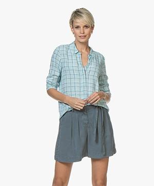 Marie Sixtine Anita Checked Shirt - Pool