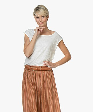 Petit Bateau Linnen Jersey T-shirt - Marshmallow