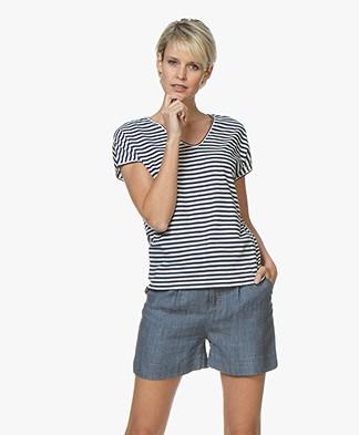 Belluna Pam Striped Cotton T-shirt - Orginal
