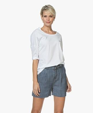 Denham Fortune Logo T-shirt - Bright White