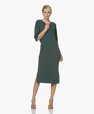 Drykorn Efta Milano Knitted Midi Dress - Dark Green