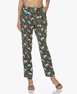 Marie Sixtine Cindy Pants with Print - Leon Dark