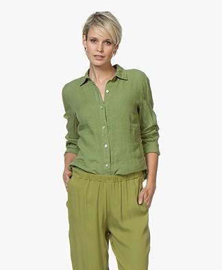 LaSalle Linen Blouse - Green