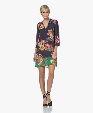 LaSalle Viscose Printed Tunic Dress - Flower
