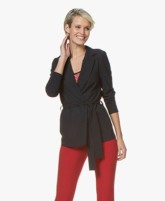 Josephine & Co Rutger Travel Jersey Blazer - Navy