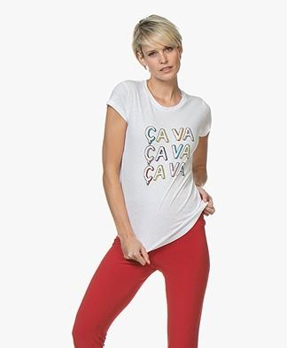 Zadig & Voltaire Skinny Ça Va Print T-shirt - White