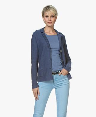 Belluna Cassoni Linen Blend Knitted Blazer - Jeans