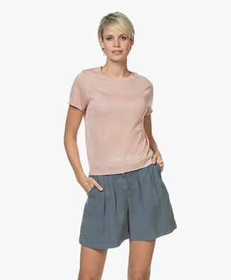 indi & cold Gebreid Lurex T-shirt - Dalia
