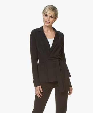 Josephine & Co Rutger Travel Jersey Blazer - Black