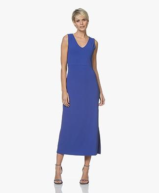 no man's land Crepe Jersey Maxi Dress - Royal Blue