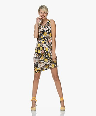 no man's land Viscose Jersey Dress with Print - Buttercup