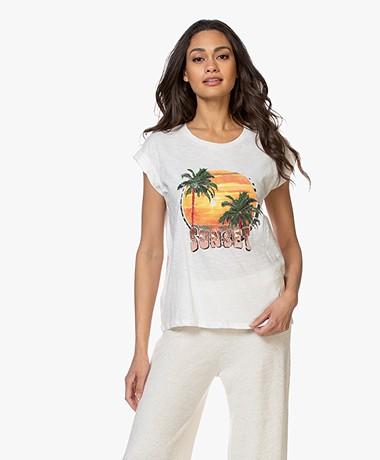 MKT Studio Taset Print T-shirt - Krijt