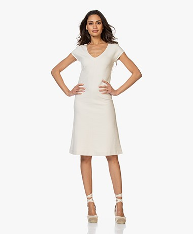 Kyra & Ko Blanche Fit & Flare Jersey Dress - Bone
