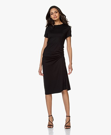 Rag & Bone Ina Jersey Dress with Cord Detail - Black