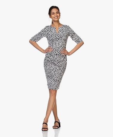 JapanTKY Tate Travel Jersey Printed Pencil Dress - New Dot