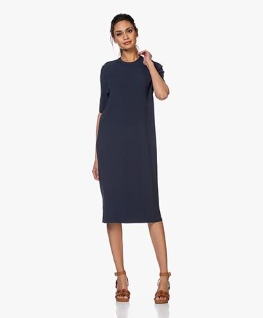 Drykorn Rabea Rib Jersey Midi Dress - Dark Blue