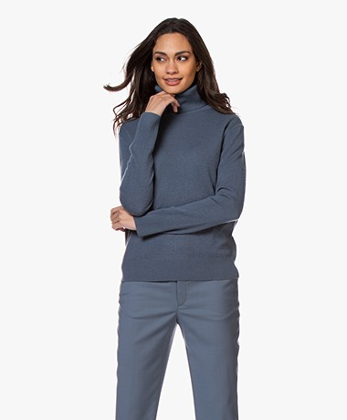 Filippa K Cashmere Roller Neck Sweater - Blue Grey