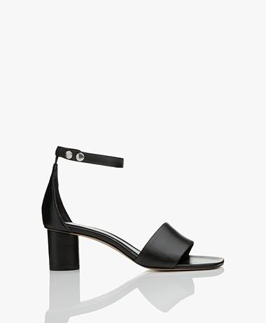 Filippa K Sandy Leather Block Heel Sandals - Black