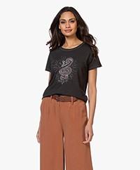 MKT Studio Tiper Print T-shirt - Zwart