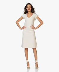 Kyra & Ko Blanche Fit & Flare Jersey Dress - Bone