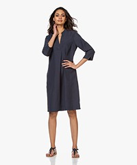 Kyra & Ko Ivana Tunic Dress in Tencel and Linen - Graphite