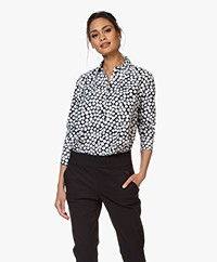 JapanTKY Milly D Travel Jersey A-lijn Blouse - New Dot