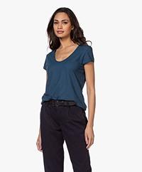 Drykorn Avivi Slub Jersey T-shirt - Blue