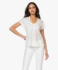 Vanessa Bruno Nickie Linnen T-Shirt - Ecru