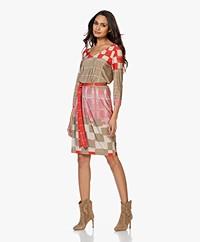 Kyra & Ko Isabeau Viscose Jersey Print Dress - Khaki